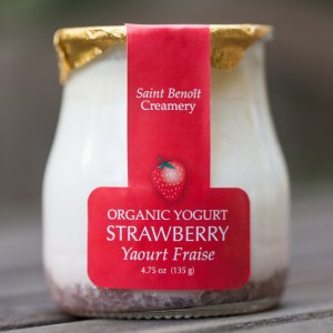 strawberry yogurt 5 oz glass
