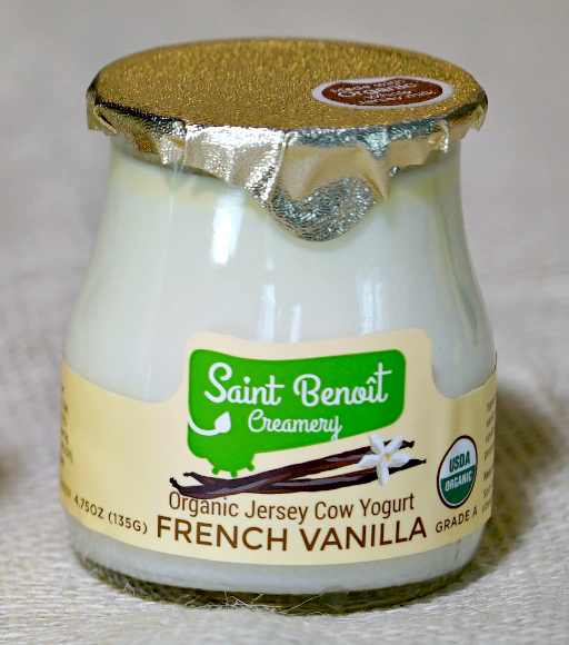 French vanilla yogurt 4.75 oz glass